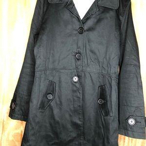 Max studio trench coat black size med